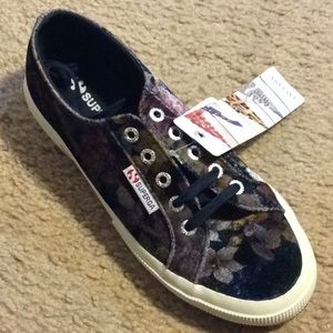 NWT! SUPERGA Floral Sneakers